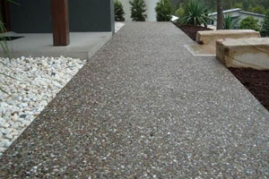 transform your backyard with poured limestone